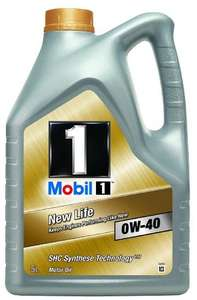 [Amazon Blitzangebot] Mobil 1 New Life Motoröl 0W40 5L ->Perfekt für den Winter!