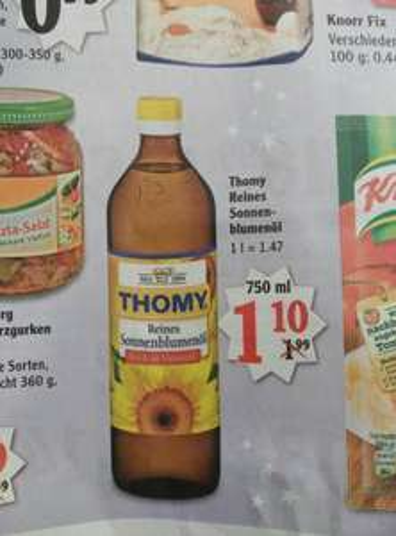 Thomy Sonnenblumenöl [Lokal Globus Bob-Rox?!]