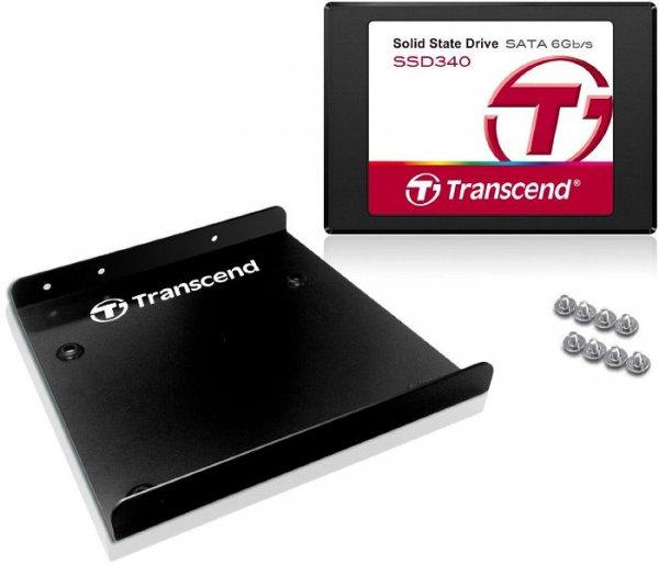 """[CONRAD] Transcend SSD340 / SSD370 128 GB SSD mit AES Verschlüsselung und 3,5"""" Adapter"""