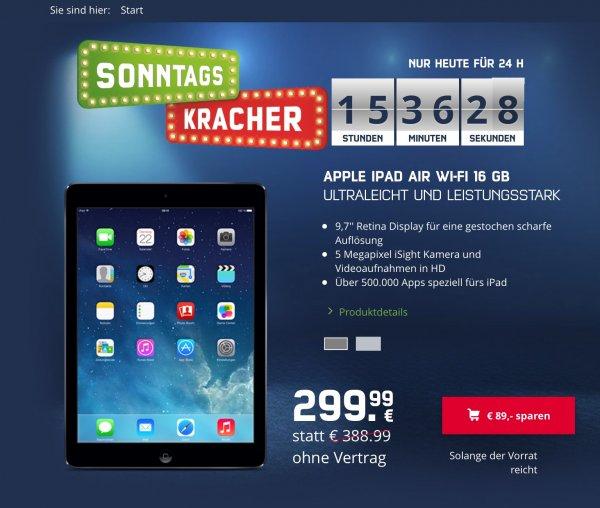 [mobilcom-debitel] iPad Air 16Gb wifi weiß/schwarz für 299,- + Versand 4,95