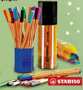 [GLOBUS MAINTAL] 20x Stabilo Point 88 verschiedene Farben inkl. Stiftbox für 4,99€