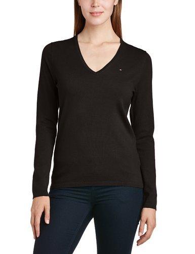 [Amazon] Tommy Hilfiger Damen Pullover NEW IVY V in Schwarz (NP 99€)