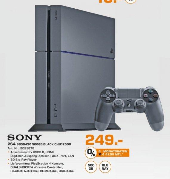(Lokal) PS4 Konsole 500GB Schwarz CUH-1200 für 249€ @ Saturn Köln Connect