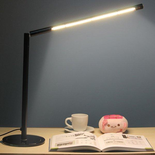 @ebay WOW GHB 5W dimmbare Tischlampe LED Schreibtischlampe 360° drehbar 48 LEDs Warmweiß -Schwarz nur 16,59 EUR & VSK frei aus D!