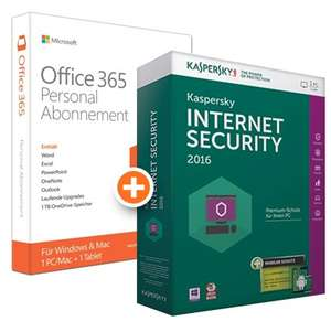 Microsoft Office 365 Personal + Kaspersky Internet Security 2016 für 37,98€ @ NBB