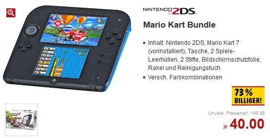 [Kaufland, Bad Kreuznach & ????] - Nintendo 2DS (Mario Kart Bundle) für Euro 40,- / 73 % billiger