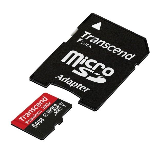 Transcend Premium microSDHC Class 10 UHS-I 64GB (Prime)
