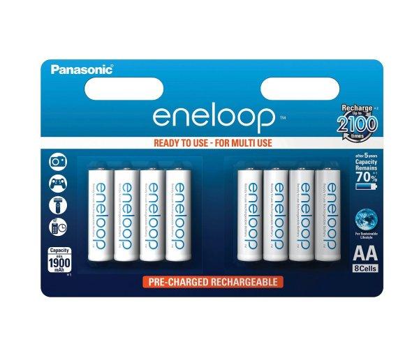 [Prime] [Blitzangebot] Panasonic eneloop AA Akku BK-3MCCE/8BE (1.900 mAh, 8er Pack) für 12,99€