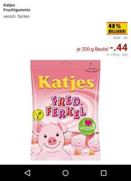 Katjes Fruchtgummies Kaufland 0,44€ lokal Dortmund