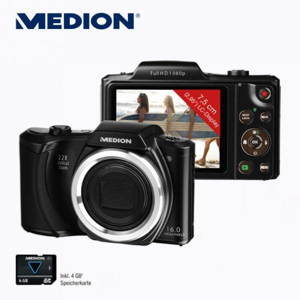 Aldi-Nord (ab 26.11.) / Medion 16 MP Bridgekamera mit CMOS-Sensor! + 22x Zoom + Wi-Fi