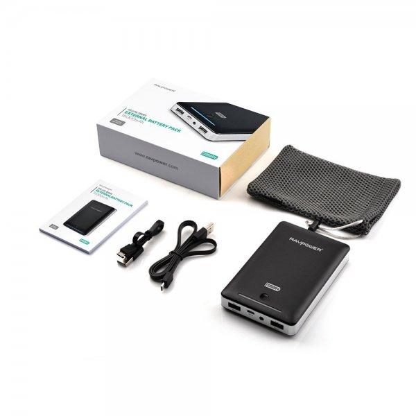 Amazon-Blitzangebot / RAVPower 16000mAh + 4,5A Ausgang / Power-Bank / Reiseakku