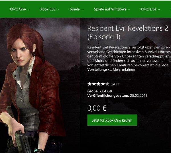 [Xbox One] Resident Evil Revelations 2 - Episode 1 (inkl. Raid)