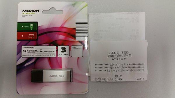 (Lokal Aldi Aachen) Medion USB Stick 64 Gb