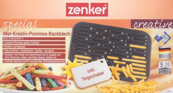 [Woolworth Aschaffenburg] Zenker Kreativ-Pommes-Backblech für 1 Euro