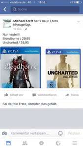 Bloodborne 29,95 / Uncharted The Nathan Drake Collection 39,95 bei Michael Kreft Videospiele Bielefeld lokal