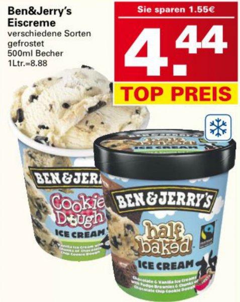 [WEZ] Ben & Jerry's 500 ml Eisbecher für 4,44 versch. Sorten