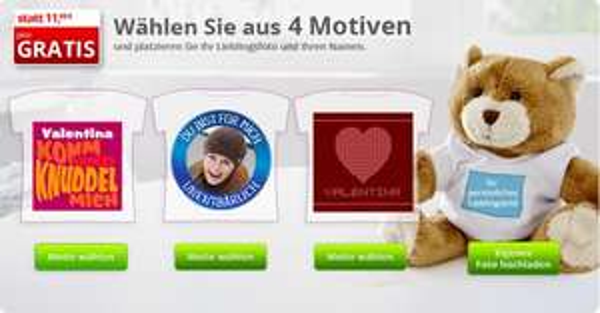 [myprinting] Teddy mit Foto gratis plus 4,99€ Versand - Neukunden