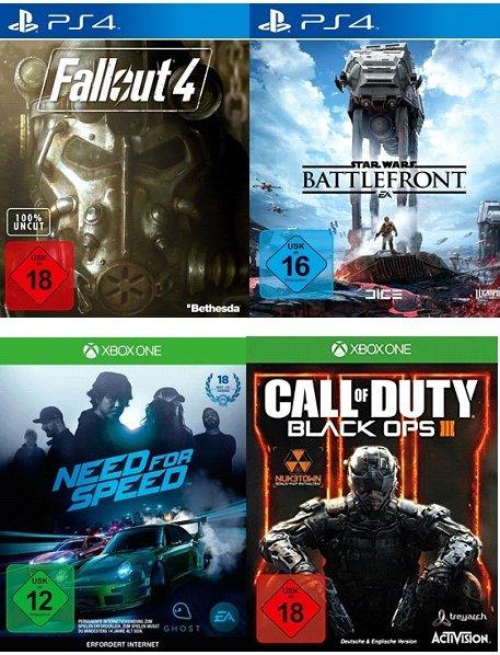 [Saturn] Star Wars: Battlefront ,Fallout 4,Call of Duty: Black Ops 3, Need for Speed jeweils für PS4/XboxOne für je 49,99€ mit Newslettergutschein und Abholung