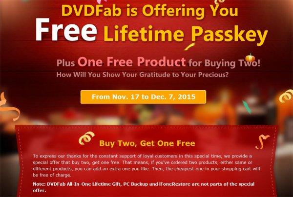 DVDFab Passkey Software (nur für Windows) für DVD und Blu-ray kostenlos (Giveaway, Promotion)