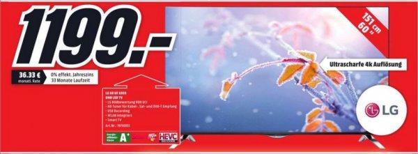 [LOKAL Lüneburg] Media Markt LG60UF6959 17 % unter idealo (für 1199 €) 60 Zoll LG UHD LED TV EEK A+