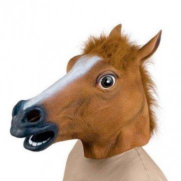 "[CN Banggood] Pferdemaske Latex ""Creepy Horse"""