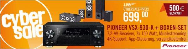 Pioneer AV Receiver VSX-930 mit 5.0 Lautsprecher-Set Quadral Quintas 5000 im Cybersale bei Cyberport