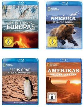 [Terrashop] Blu-ray Paket - National Geographic: Europa, Klima, Wildnis Amerika (4 Blu-rays)