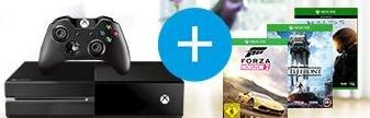 Xbox One + Forza Horizon 2 + Halo 5 + Star Wars Battlefront für 369€ bei Saturn.de