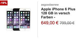Rakuten Christmas Sale- > iPhone 6 Plus 128 GB (refurbished) für 639€ @ -90€ in Rakuten Punkten ->549€