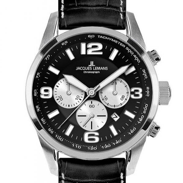 Jacques Lemans 40-5A Chronograph Uhr Herrenuhr