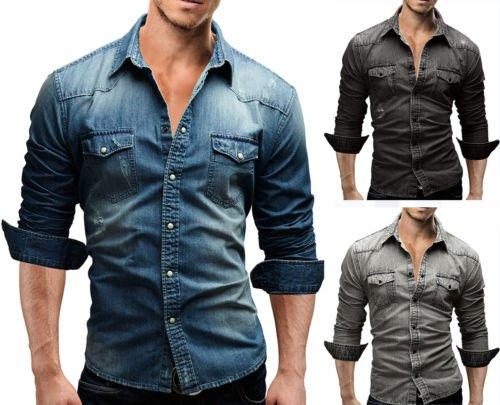 MERISH 46 – Herren Jeans Denim Hemd für 19,90€ @Ebay.de