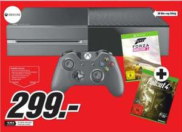 [Lokal Mediamarkt Chemnitz] Microsoft Xbox One 500GB + Forza: Horizon 2 + Fallout 4 + Fallout 3 für 299,-€