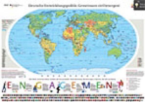 Wieder da! Riesen Weltkarte 138x98 Kostenlos