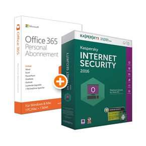 Microsoft Office 365 Personal inkl. Kaspersky Internet Security 2016 + Android Security für 37,95€