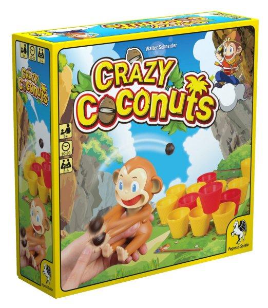 Pegasus Spiele 52153G Crazy Coconuts für 14,99€ - Brettspiel für Kids ab 5 Jahren @Amazon