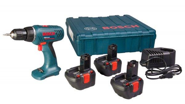 Bosch Blau GSR 12-2 mit 3 Akkus 1,5 Ah, Ladegerät & Koffer für 89,9 EUR (idealo: 133,18)
