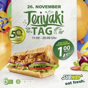 [Lokal Dülmen] Subway Teriyaki-Tag