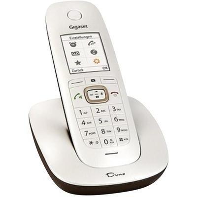 Gigaset Dune CL540 Dect-Schnurlostelefon, perlmutt-weiß/braun für 38€ statt 56€@Notebooksbilliger
