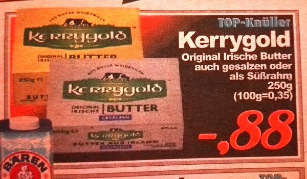 [Aktiv Irma, Oldenburg] Kerrygold gesalzen oder ungesalzen 250gr. für 0,88€