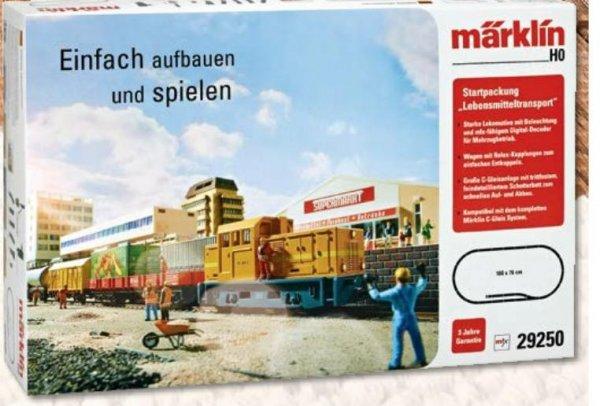 """[Aldi-Süd] Märklin H0 Eisenbahn-Startset """"Lebensmitteltransport"""" 29250 für 109€ und 5 verschiedene H0 Bausätze von Faller für jeweils 29,99€ ab Do. 26.11.2015"""