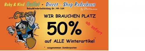 50% auf Winterbekleidung bei Püttmann Baby & Kind Outlet und Direct Shop in Paderborn (LOKAL)