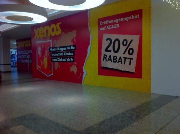 Am 11.12.15 in Leipzig: Xenos 20% auf alles Neueröffnungsrabatt im P.C. + gratis Shopper für die ersten 2000 Kunden ab 5€ Einkaufswert