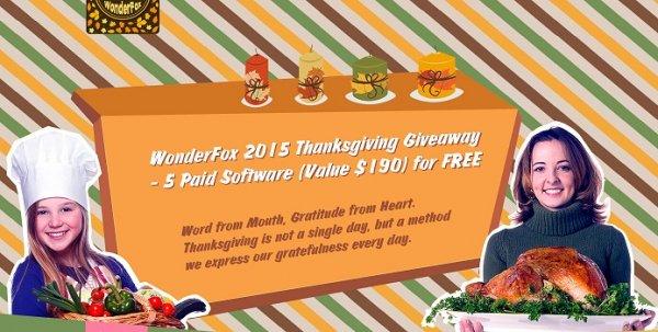 7 Programme Kostenlos - WonderFox 2015 Thanksgiving