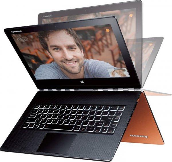 Lenovo Yoga 3 Pro 13 orange, Core M-5Y51, 8GB RAM, 256GB SSD, 13,3 Zoll 3200x1800 Multi-Touch IPS Display, Windows 8.1, 1,2kg für 907,89€ bei Future-X
