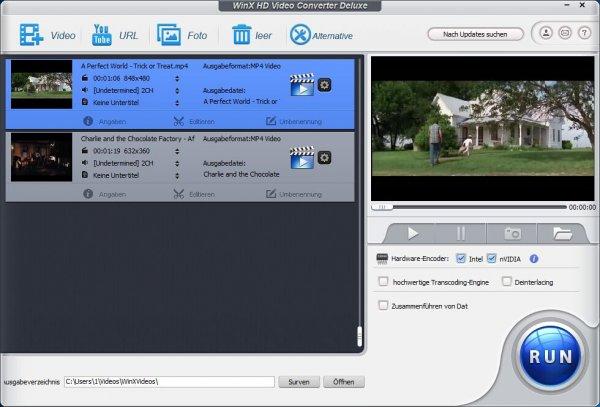 WinX HD Video Converter Deluxe V5.9.0 ganz neu! Hardware-Encoder eingebaut!