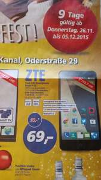 [offline, ggf. nur lokal Teltow] real,- ZTE Blade L3 Dual-Sim Smartphone