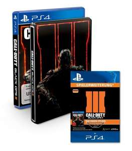 (Amazon.de) PS4 Call of Duty: Black Ops III - Standard inkl. Steelbook + Season Pass für 65,94€