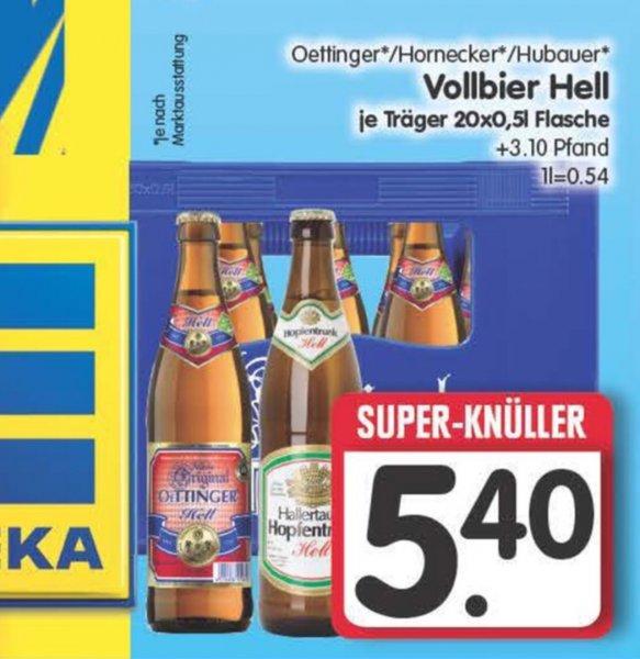 [Lokal Edeka Center] Ravensburg: Oettinger Vollbier Hell für 5,40€ / Crunchips 0,99€ / Haribo für 0,66€