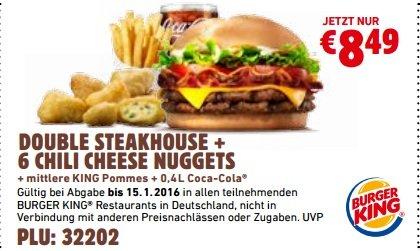 [Lokal Köln-Holweide] Double Steakhouse + Chili Cheese Nuggets PLU Fehler 5,99 statt 8,49