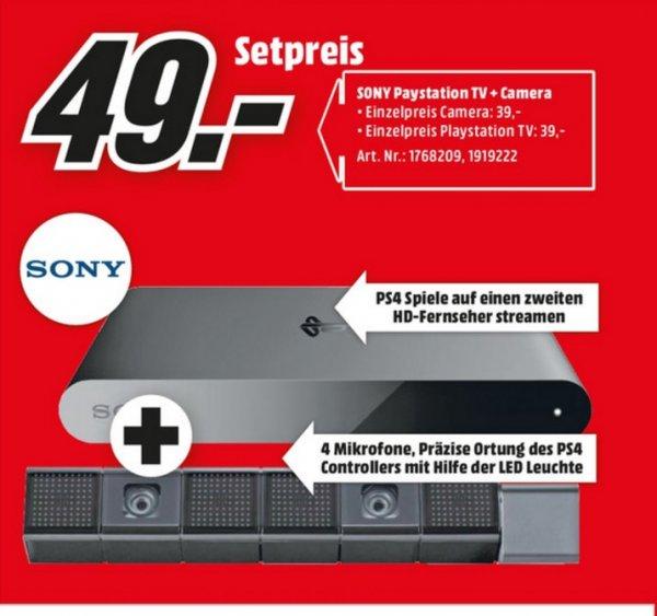 (Lokal) SONY PS4-Camera + SONY PlayStation TV für 49€ @ Mediamarkt Neuss & Siegen